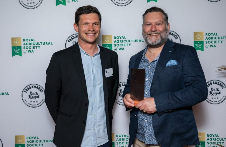 Bintani Australia presenting the award for Champion Distillery to James Young from Old Young's Distillery.